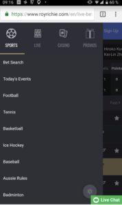 Roy Richie App für iPhone, iPad und Android