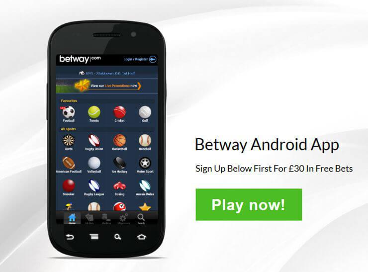 Betway Mobie App (Quelle: Betway)