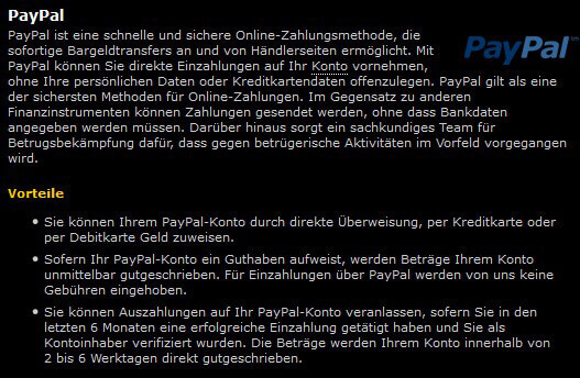 bwin Auszahlung auf das PayPal-Konto, wie geht es?