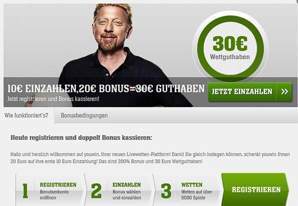 Youwin Bonus – 100% bis 100 € Wettbonus einlösen