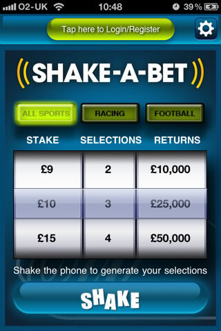 William Hill Shake a Bet für iPhone, iPad und Android