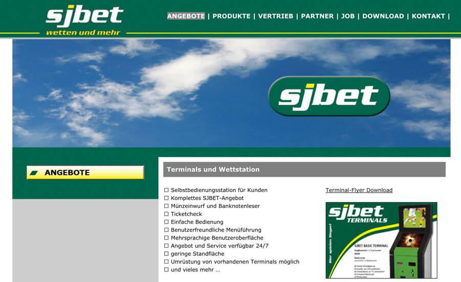 Das Angebot auf der Webseite von SJbets (Quelle: sjbet.info)