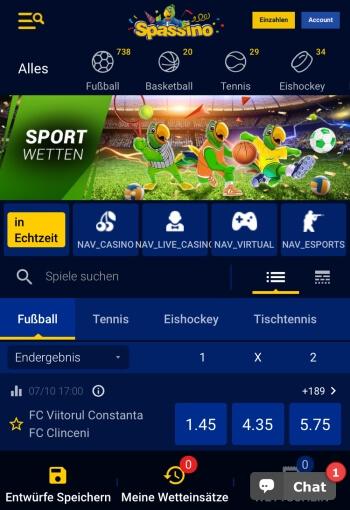 Spassino Sportwetten Erfahrungen – Test & Bewertung 2021