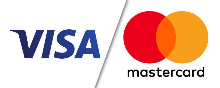 Sportwetten Zahlungsmöglichkeiten: Visa und Mastercard Kreditkarte