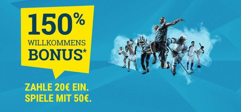 Der Willkommensbonus von Sportwetten.de