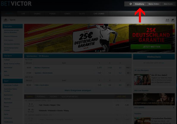 BetVictor Ein-und Auszahlung via Paypal mit Sonderbonus