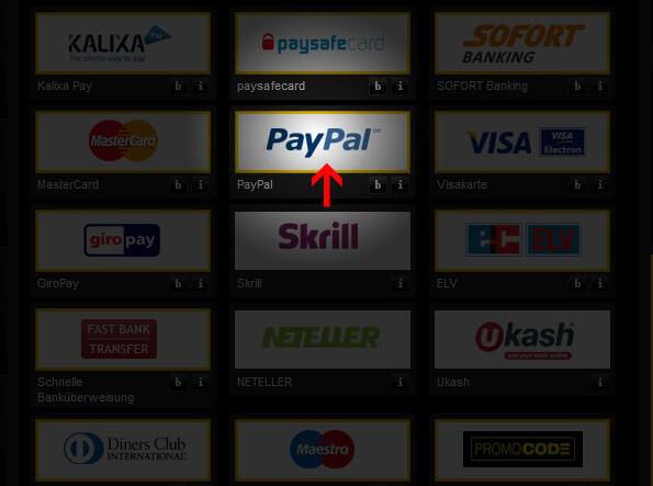 bwin PayPal Einzahlung Schritt 2