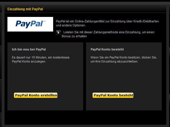 bwin PayPal Einzahlung Schritt 3