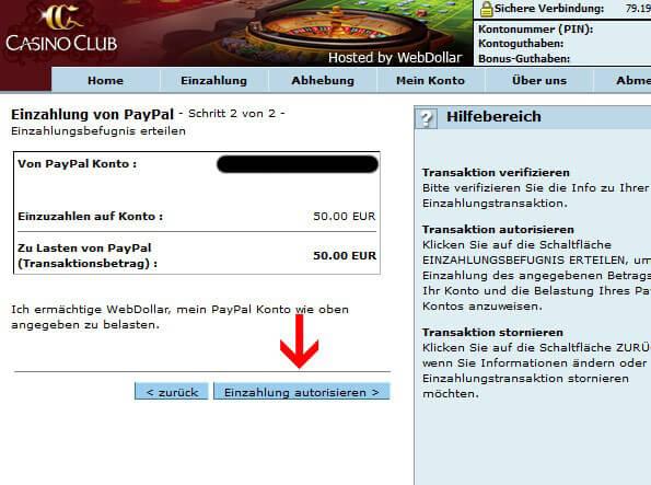 CasinoClub PayPal – für deutsche Spieler exklusiv im Angebot