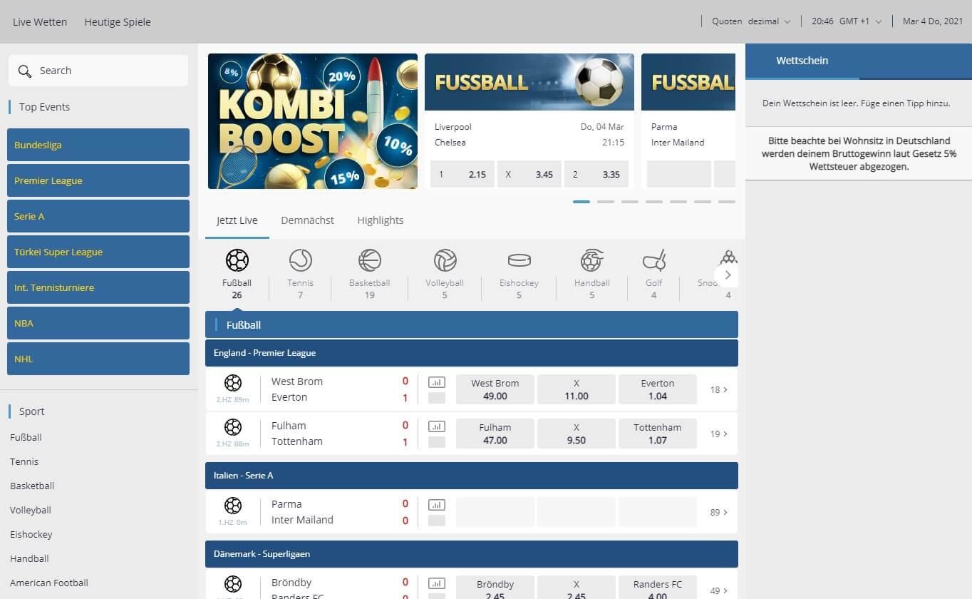 sunmaker Sportwetten – Erfahrungen und Bewertung 2021