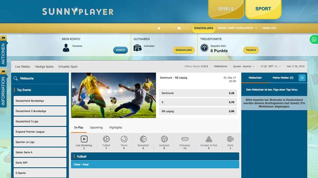 sunnyplayer Sportwetten Erfahrungen – Test & Bewertung 2021