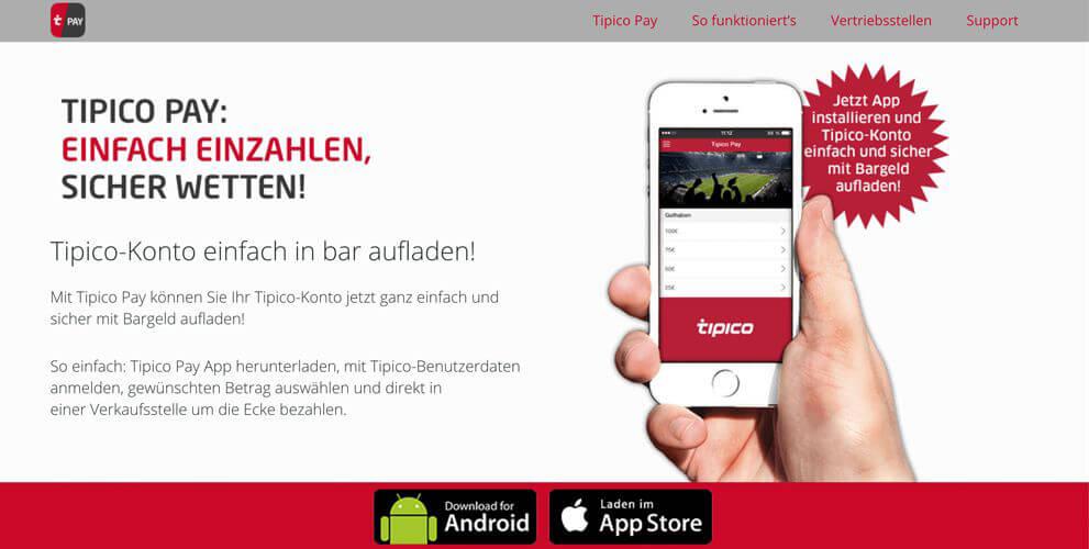 Tipico – Einzahlungen, Limits und Methoden