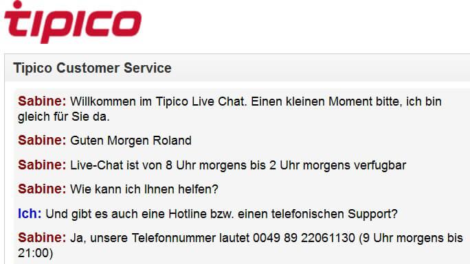 ☏ Wie ist die Tipico-Hotline – Kundenservice/Kundensupport-Telefonnummer von Tipico
