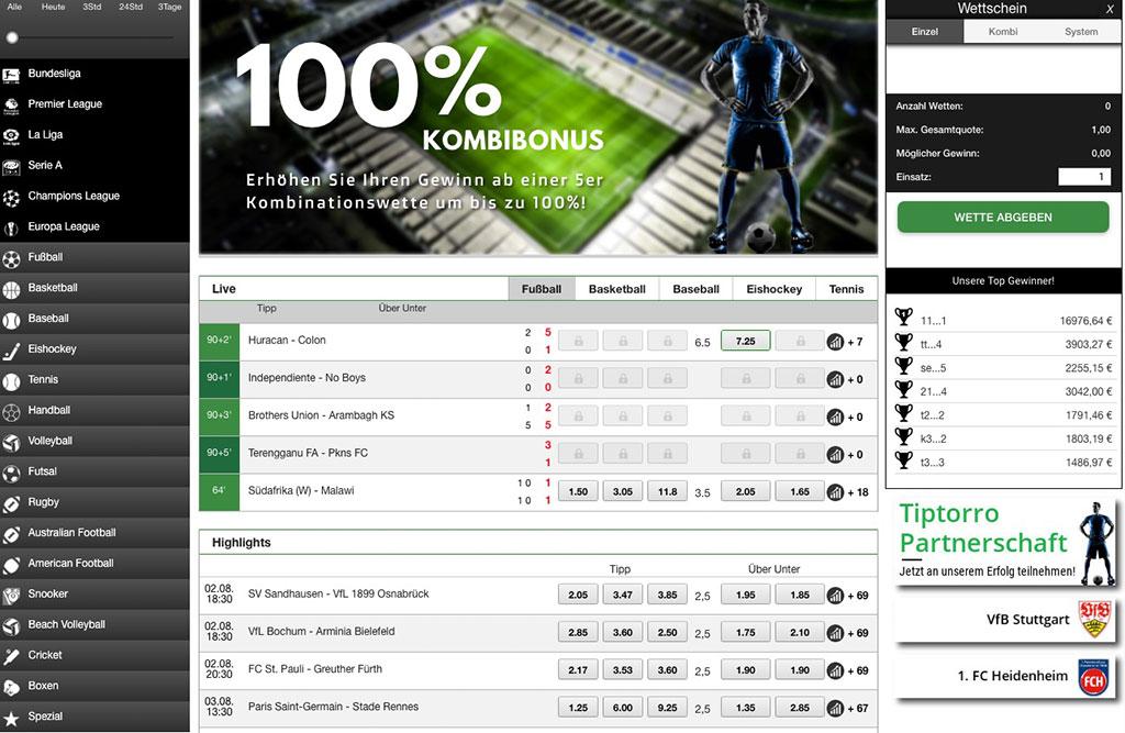 Tiptorro Sportwetten Erfahrungen – Test & Bewertung 2021