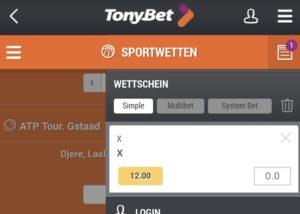 TonyBet App für iPhone, iPad und Android