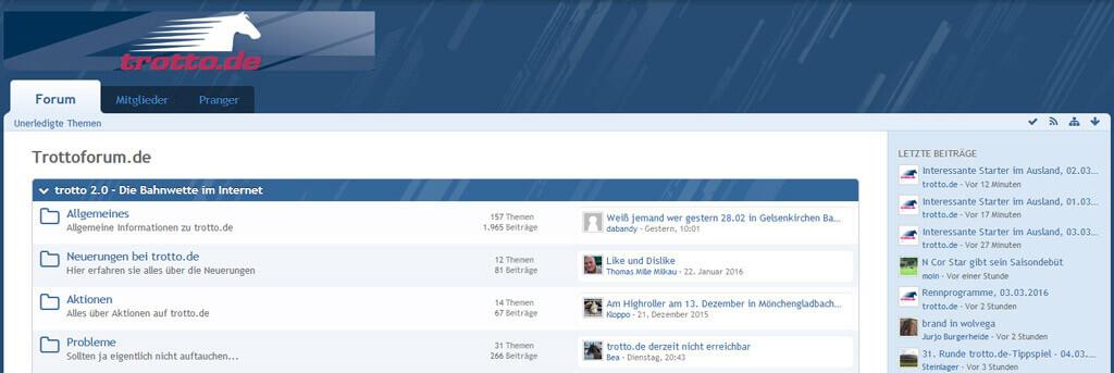 trotto.de Forum