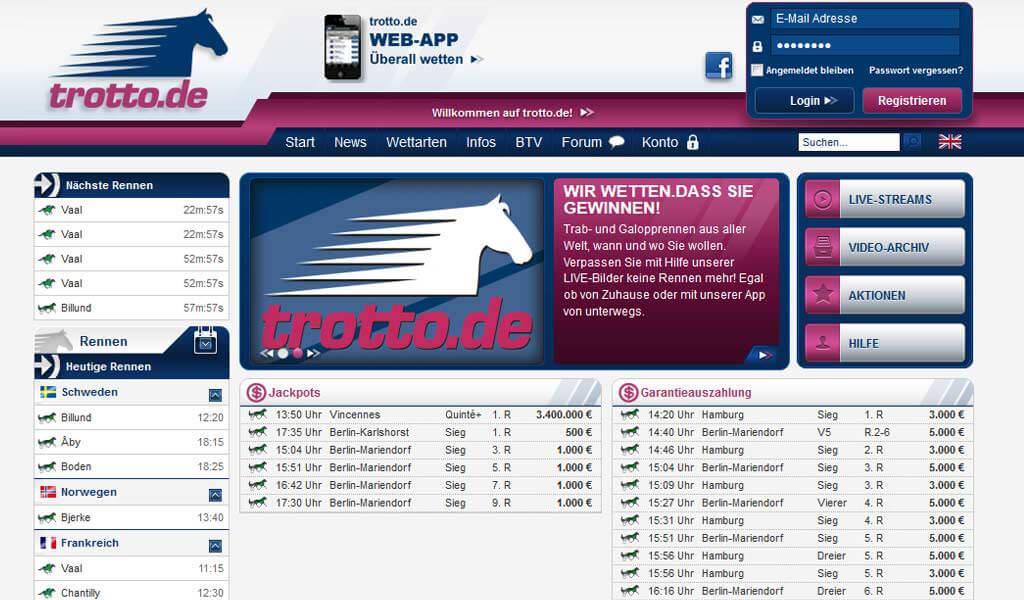 trotto.de Pferdewetten Info & Erfahrungen 2016