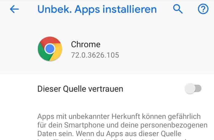 """""""Zugriff aus unbekannten Quellen"""" bei Android – Sportwetten-App"""
