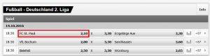 Wett-Tipp heute: St. Pauli – Aue (14.10.2016)