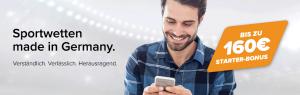 Wetten.com Wettbonus – bis zu 160 Euro Willkommensbonus einlösen