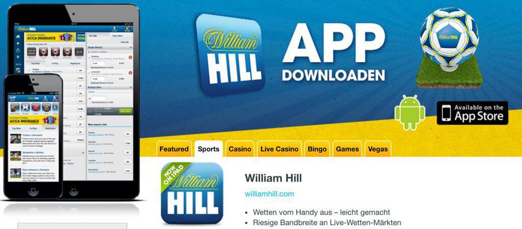 William Hill Sportwetten – Erfahrungen und Bewertung 2018