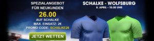 William-Hill-Spezialbonus: 26er-Quote auf Schalke-Sieg gegen Wolfsburg!