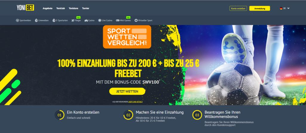 Yonibet Sportwetten – Erfahrungen und Bewertung 2021