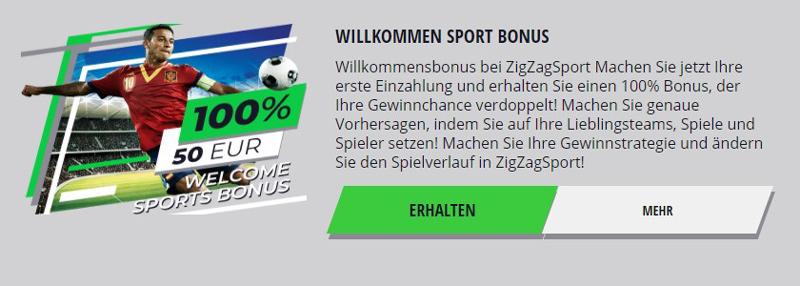 Bonus von ZigZagSport