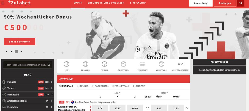 ZulaBet Sportwetten – Erfahrungen und Bewertung 2019